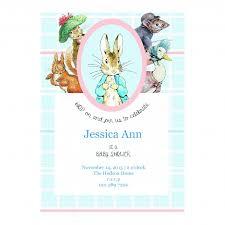 rabbit invitation rabbit pastel personalized baby shower invitation card