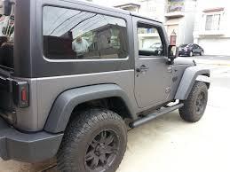 jeep black matte black wrangler jeep wrapped in 3m matte dark gray illmatic wraps