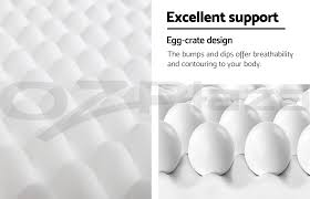 double size deluxe egg crate mattress topper 5 cm foam underlay