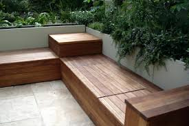 Outside Storage Bench Patio Storage Bench Outside Wooden Seat Diy Lowes