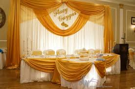 wedding backdrop gold gold wedding backdrop names tabledecor drapery chairbow