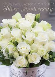 silver anniversary ideas flowers for 25th wedding anniversary kantora info