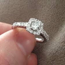 Cushion Cut Halo Diamond Engagement Ring In Platinum 1ct Cushion Halo Diamond Engagement Ring 14k White Gold Amazon Com