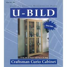 shop u bild craftsman curio cabinet woodworking plan at lowes com