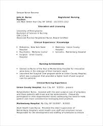 Nursing Resume Examples With Clinical Experience by Example Of Nurse Resume Registered Nurse Resume Examples Nurse