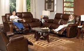 catnapper dallas top grain leather sofa set tobacco cn 495 set