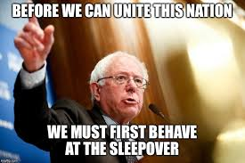 Sleepover Meme - bernie sanders speech imgflip