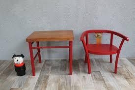 table chaise fille table et chaise vintage pour petit style baumann chambre d
