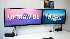 what is the best desk top computer ultrawide vs dual screen what is the best setup for productivity