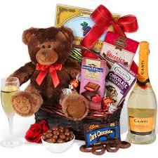 s day delivery gifts chagne teddy gift basket flowerica brand flowers