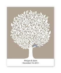 tree guest book idoengravables leaf tree print unframed winter wedding