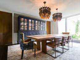 Houzz Dining Room Tables Mid Century Houston Home Marries Contemporary And Whimsical Styles