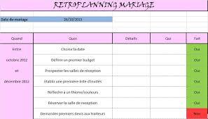 devis mariage mon rétroplanning à disposition 1 3 forum mariage 31