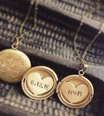 locket necklace with photo images Custom initials date locket necklace locket necklace initials jpg