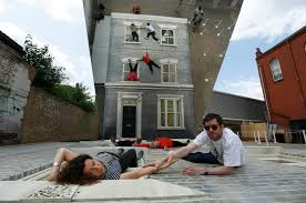 Weird House by Mirrored House Illusion Dalston House Art Pops Up In Hackney