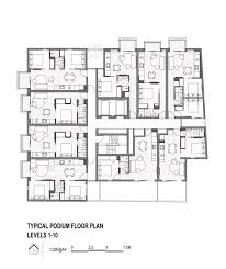 podium floor plan gallery of upper house jackson clements burrows 16
