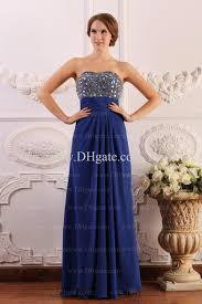 dark blue backless sweetheart prom dresses formal gowns chiffon