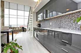 high gloss gray kitchen cabinets home