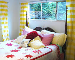 Teenage Bedroom Wall Colors Teenage Bedroom Colors With Lovely Yellow And White Liner Sheer