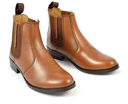 womens tan chelsea boots pull up tab style 6011