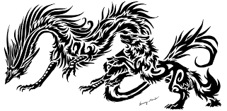 tribal chinese dragon tattoos dragon and wolf tribal 2 by sunima on deviantart
