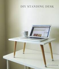 Adjustable Desk Shelf Best 25 Standing Desks Ideas On Pinterest Standing Desk Height