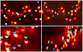 how to make heart and other shaped bokeh christmas lights pink