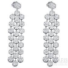 Diamond Chandeliers Design Drop Chandelier Round Diamond Earrings With 4 90ct Diamond