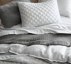 tencel ruffle duvet cover u0026 sham pottery barn bedroom