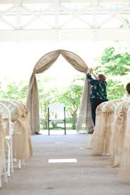 burlap wedding arch ideas burlap covered wedding arch burlap