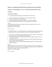 1 1 test bank maurer community public health nursing practice