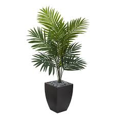 artificial tree nearly 4 5 ft kentia palm artificial tree in black wash