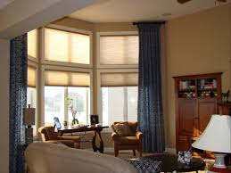 white fabric simple windows curtain chrome shade suspended lights