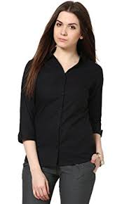 womens black blouse the gud look s black slim shirt amazon in clothing
