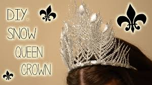 halloween crowns and tiaras diy snow queen crown ohhitsonlyalice youtube
