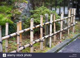 traditional japanese bamboo fence stock photo royalty free image