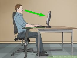 Office Chair Desk 3 Ways To Adjust Office Chair Height Wikihow
