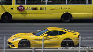 yellow f12 f12 spotted in dubai united emirates on 10 03 2013