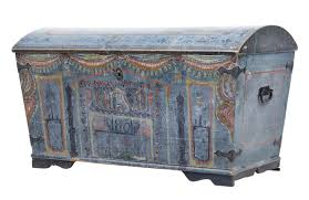 swedish painted furniture 19th century swedish painted dome top trunk chest c 1851 sweden