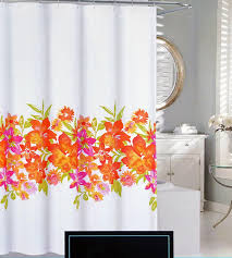 Orange Shower Curtains Cynthia Rowley Fabric Shower Curtain Pink Orange