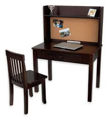 furniture traditional wooden kids desk and chair set with single