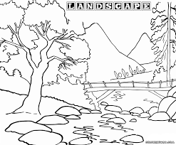 coloring pages for landscapes landscape coloring pages to download and print ribsvigyapan com