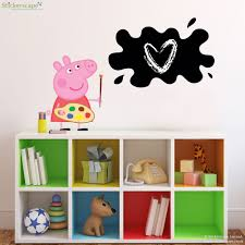 Chalk Board Wall Stickers Peppa Pig Painting Chalkboard Wall Sticker Stickerscape Uk