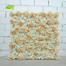 wedding backdrop flower wall gnw flw1508005 new coming flower wall decor for occation with