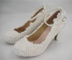 pearl wedding shoes wedding shoes lace pearl bridal shoes flat lace bridal shoes
