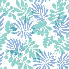 tropical wrapping paper tender pale blue and green tropical leaves seamless pattern