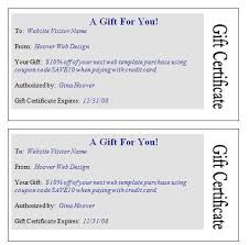 gift certificate word custom gift certificate templates for