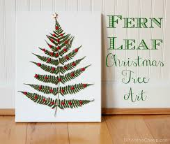 fern leaf christmas tree art erin spain