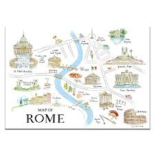 Map Rome Tait U0027map Of Rome U0027 Print Alice Tait Shop