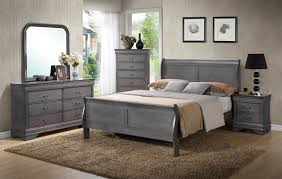 Master Bedroom Sets King by Unique Rustic Grey Sleigh Bedroom Set King 7pc Set 699 Queen
